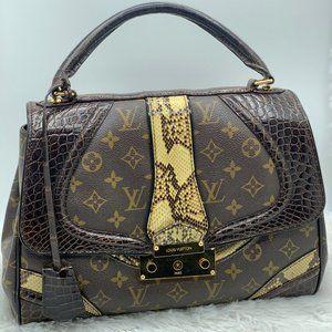 Louis Vuitton Alligator Python Monogramissime Bag